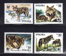 POLONIA/POLAND 1985 MNH 2678/2681 Wolves