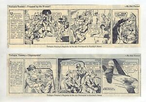 Tailspin Tommy by Hal Forrest - 12 large daily comic strips from February 1937