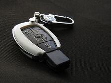 Pinalloy weiß Kunststoff Fern Schlüssel Abdeckung Kasten Hülle für Mercedes Benz