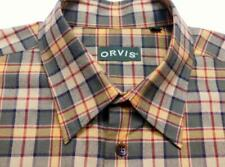 ORVIS Btn-Down Plaid Check Wool Blend Long Sleeve Casual Shirt XL