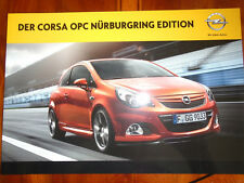 Opel corsa opc nurburgring edition brochure août 2011 texte allemand