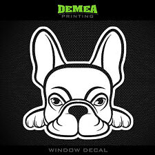 """French Bulldog - Dog - Style 2 - 5"""" Vinyl Sticker/Decal - Choose Color"""