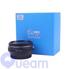 RIDUTTORE di focale SPEED BOOSTER Adattatore per Minolta MD obiettivo per Micro 4/3 m43