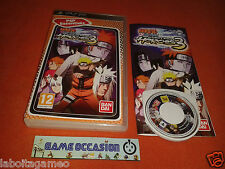 NARUTO SHIPPUDEN ULTIMATE NINJA HEROES 3 PSP SONY PLAYSTATION COMPLETO PAL