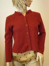 Eileen Fisher Red Rust Merino Wool Cardigan Sweater Petite Medium EXC
