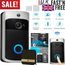 Smart Video Doorbell WiFi Wireless Intercom Door Ring Bell Security Camera 720P