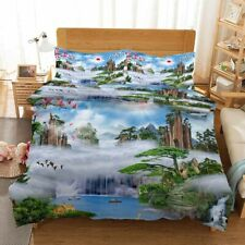 Green Pine Cypress 3D Printing Duvet Quilt Doona Covers Pillow Case Bedding Sets