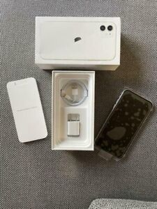 Pristine iPhone 11 in Box  (Locked to AT&T, White, 64 GB)