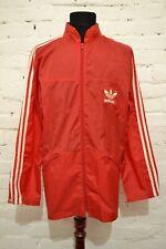 90s 80s Vintage Mens L ADIDAS ORIGINALS Tracksuit Track Top Red RAIN Jacket