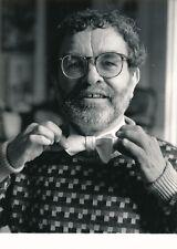Fernando Arrabal poète tirage argentique époque presse 1988