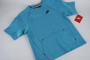 NWT $60 Kids Boys Sportswear Tech Fleece 728319 418 sz M-L BLUE Short Sleeve