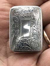 More details for collectible georgian large silver vinaigrette by nathaniel mills birmingham 1835