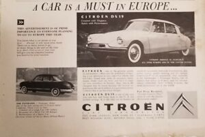 Citroen 4 print ads Town & Country National Geographic 1957