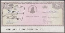 TWN - ZIMBABWE 15 - 1000 D. 2003 aXF Emergency Issue