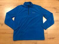 Eddie Bauer Mens BLUE 1/4 Zip QUEST Fleece Jacket XL-XXL- TL-TXL