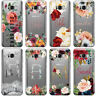 PERSONALISED FLORAL TRANSPARENT & NAME PHONE CASE COVER FOR SAMSUNG GALAXY 2