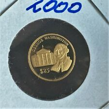 2000 25 Dollar Gold Coin from Liberia with George Washington Invest