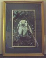 Signed Dutches Clasky Bunny Rabbit Framed Lithograph