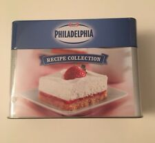 KRAFT Foods *Philadelphia Cream Cheese* METAL TIN Recipe Box w/ Recipes Sealed