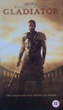 Gladiator.  VHS.  2000.  Russell Crowe..Ridley Scott Film.  Cert  15.  2 Hours