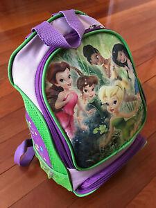 Disney Tinkerbell Purple Green Backpack Disney Princess Kids Girls EEUC
