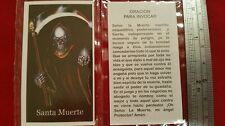Oracion Para Invocar Santa Muerte Holy Death Holy Prayer Card Spanish Estampas