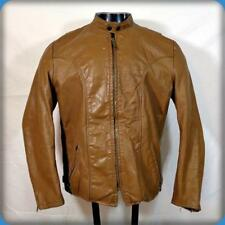BROOKS Vintage 70s Leather Cafe Racer Motorcycle Biker JACKET Mens M 40 Brown