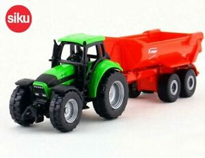 SIKU 1632 - TRACTOR with TIPPING TRAILER - Die cast Metal & Plastic - NEW