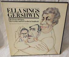 Ella Fitzgerald: Ella Sings Gershwin, 4 Record Set  (4 MINT 33 RPM LPs)