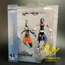 KINGDOM HEARTS Select Series 2 AQUA & GOOFY Action Figure Set Diamond Select!