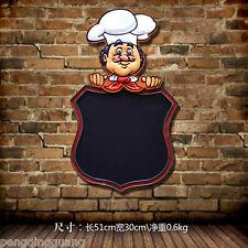 Cartoon Chef With A Blackboard Tin Metal Signs Bar Restaurant Bakery Decor Plate