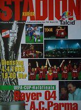 Programma UEFA CUP 1994/95 Bayer Leverkusen-AC PARMA