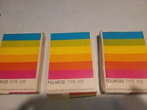 Polaroid Film Polacolor 2 Land Type 108 EXP May 1982 NOS Sold Each 3 For Sale