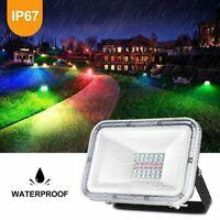 New 30W 50W 100W RGB LED Flood Light IP67 Landscape Outdoor Garden Lighting Lamp
