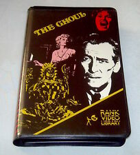 THE GHOUL  -  PETER CUSHING  - VHS - PAL - RANK LIBRARY RELEASE -PRE CERT