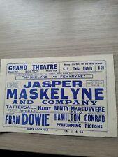 More details for variety theatre flyer 1949,bolton grand, magician jasper maskelyne, secret agent