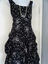 LADIES  MONSOON   STUNNING  SUMMER POLKA DOT  CARMEN   DRESS  SIZE  14