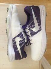 Nike McIlroy Lunar Control 3 ID Golf Shoes 9 Medium Pearl White/Purple/Silver
