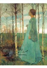 Kunstpostkarte -  Heinrich Vogeler : Frühling