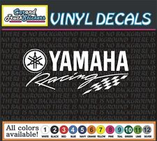 "8"" Yamaha Racing Motorcycle Waverunner Vinyl Decal window sticker"