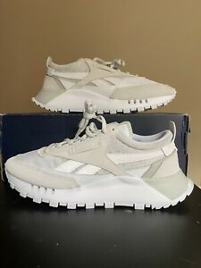 Reebok Classic Leather Legacy Shoes White/Grey Size 9M **Pre Owned**