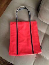 Clinique Limited Tote Bag Orange Red Pink Black Purse Carryall Handbag