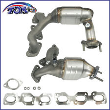 SET OF 2 NEW EXHAUST MANIFOLDS W/ CATALYTIC CONVERTER FOR FORD ESCAPE 3.0L V6