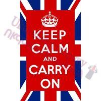 ENGLAND KEEP CALM AND CARRY ON T-SHIRT-MENS WOMENS TOPS-S M L XL 2XL 3XL 4XL 5XL