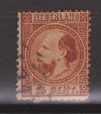 NVPH Netherlands Nederland 9 type 1 C kamtanding 131/2 kl.g type I Willem III