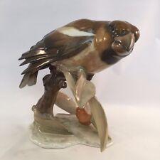 Rosenthal Porcelain Germany Kunstabteilung Selb Handgemalt Brown Bird Figurine