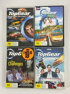 4x TOP GEAR DVDs Challenges, Back In The Fast Lane, Winter Olympics, Road Trip 2