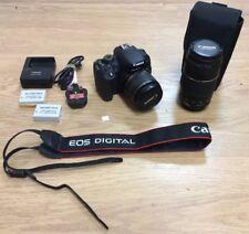 Canon EOS 700D 18MP Digital SLR Camera Black W/ 18-55mm + 75-300mm Lens