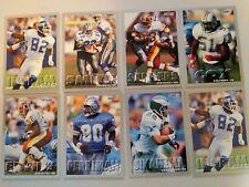 Lot of 8 1993 Fleer football cards Emmitt Smith Cowboys Mark Ingram Giants lions