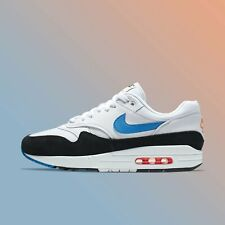 Nike Air Max 1 White Orange Black Photo Blue 2019 Men's Running New AH8145-112